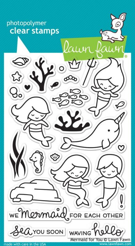 LF1167 ~ MERMAID FOR YOU ~ CLEAR STAMPS BY LAWN FAWN
